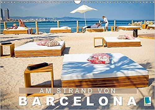 Am Strand Von Barcelona Wandkalender 2018 Din A3 Quer La