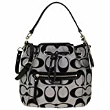 Coach 25676 Daisy Outline Signature Metallic Drawstring Shoulder Bag, Bags Central