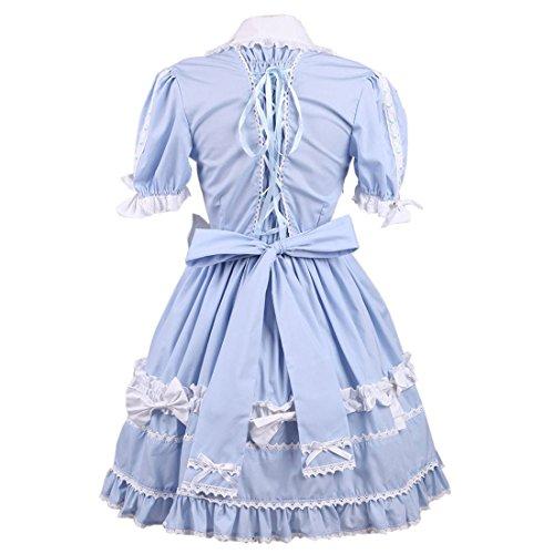 Hellblau Damen Kleid Partiss Hellblau Cotton Lolita Womens zwx1Pqa