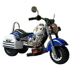 Merske-Harley-Style-6V-Battery-Operated-Kids-Motorcycle-BlueWhite
