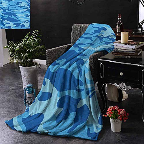 DUCKIL Decorative Throwing Blanket Camouflage Abstract Camouflage