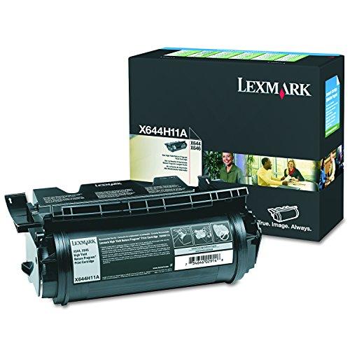 Lexmark X644H11A Black High Yield Return Program Toner - Printer Laser X646e