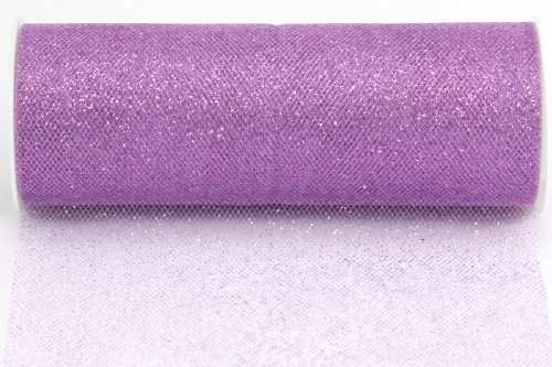 (Kel-Toy Glitter Tulle Fabric, 6-Inch by 10-Yard, Lavender)
