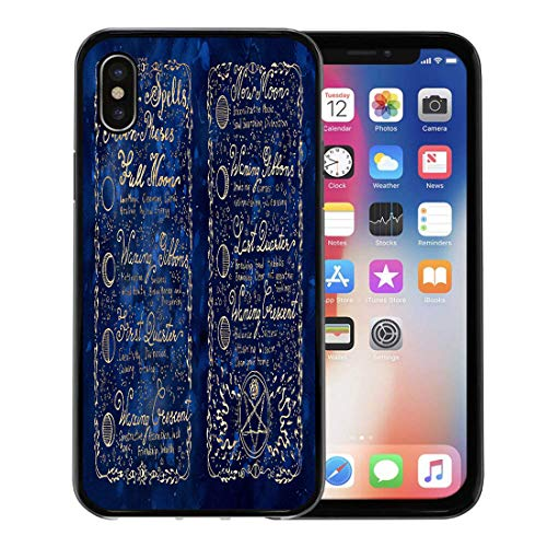 Semtomn Phone Case for Apple iPhone Xs case,Lunar