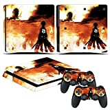 EBTY-Dreams Inc. - Sony Playstation 4 Slim (PS4 Slim) - Shingeki no Kyojin Attack on Titan Anime Eren Jaeger Vinyl Skin Sticker Decal Protector
