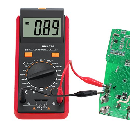 CAMWAY LCR Meter LCD Capacitance Inductance Resistance Tester Measuring Meter Self-discharge pF nF μF With Overrange Display