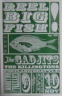 Reel Big Fish Gadjits Ska Punk Reggae Dancehall Crystal Ballroom Concert Poster from ConcertPosterArt
