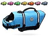 Vivaglory Dog Life Jacket Size Adjustable Dog Lifesaver Safety Reflective Vest Pet Life Preserver, Blue, Extra Large