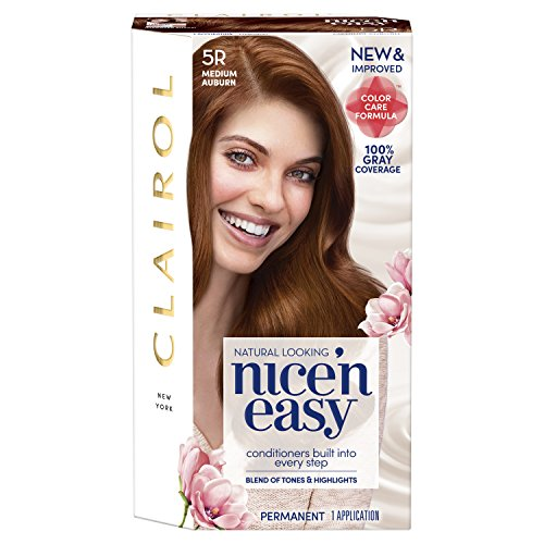 Clairol Nice 'N Easy Permanent Hair Color, 5R Medium Auburn (Packaging May Vary)