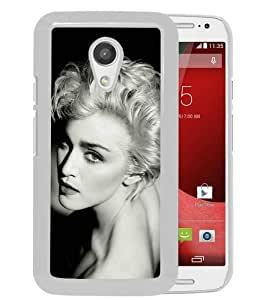 Hot Sale Motorola Moto G 2nd Generation Case ,Papers Co Hd Madonna Dark Sexy Music Pop Celebrity Iphone Wallpaper White Motorola Moto G 2nd Cover Unique And High Quality Designed Phone Case