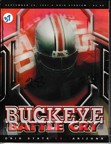 1997 Ohio State vs Arizona Football Prog 09/20/1997 Eric Gohlston 50 (Arizona State Vs University Of Arizona Football)