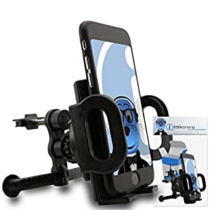 iTALKonline Sony C6603 Xperia Z Black Custom Dedicated In Car Spring Mount Clip Air Vent Holder (Case Compatible) Cradle