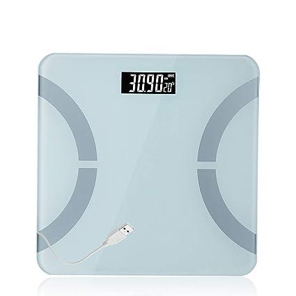 JXXDQ Básculas de baño Básculas electrónicas para el hogar Smooth Edge 180 KG Plataforma electrónica Delgada