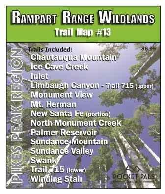 Outdoors LLC - Pikes Peak Region Trail Map No. 13 - Rampart Range Wildlands Area (Best Hikes Near Santa Fe)