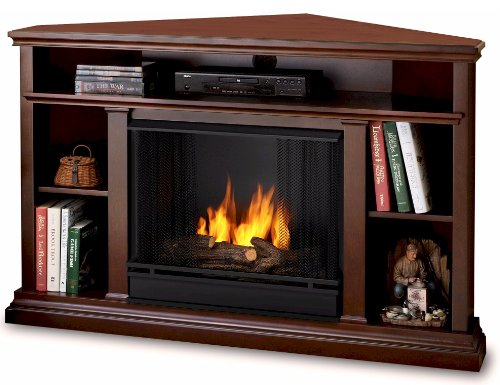 Real Flame 3750-DE Churchill Ventless Gel Fireplace (Corner Gel Fireplace Ventless)