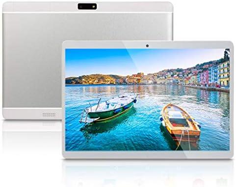 Android Tablet 10 inch, Octa-Core CPU, 4GB RAM 64GB ROM, 5G-WiFi,Bluetooth, GPS, IPS HD Display, 3G-Unlocked, K6(Silver)