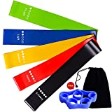 Cheap CAMORF Natural Latex Exercise Bands Resistance Loop Workout Bands – 5 PCS Yoga Bands Set for Women – Fitness Bands for Arms Legs Butt – Home Fitness,Pilates Bands (Bonus: Carry Bag+Finger Stretcher)