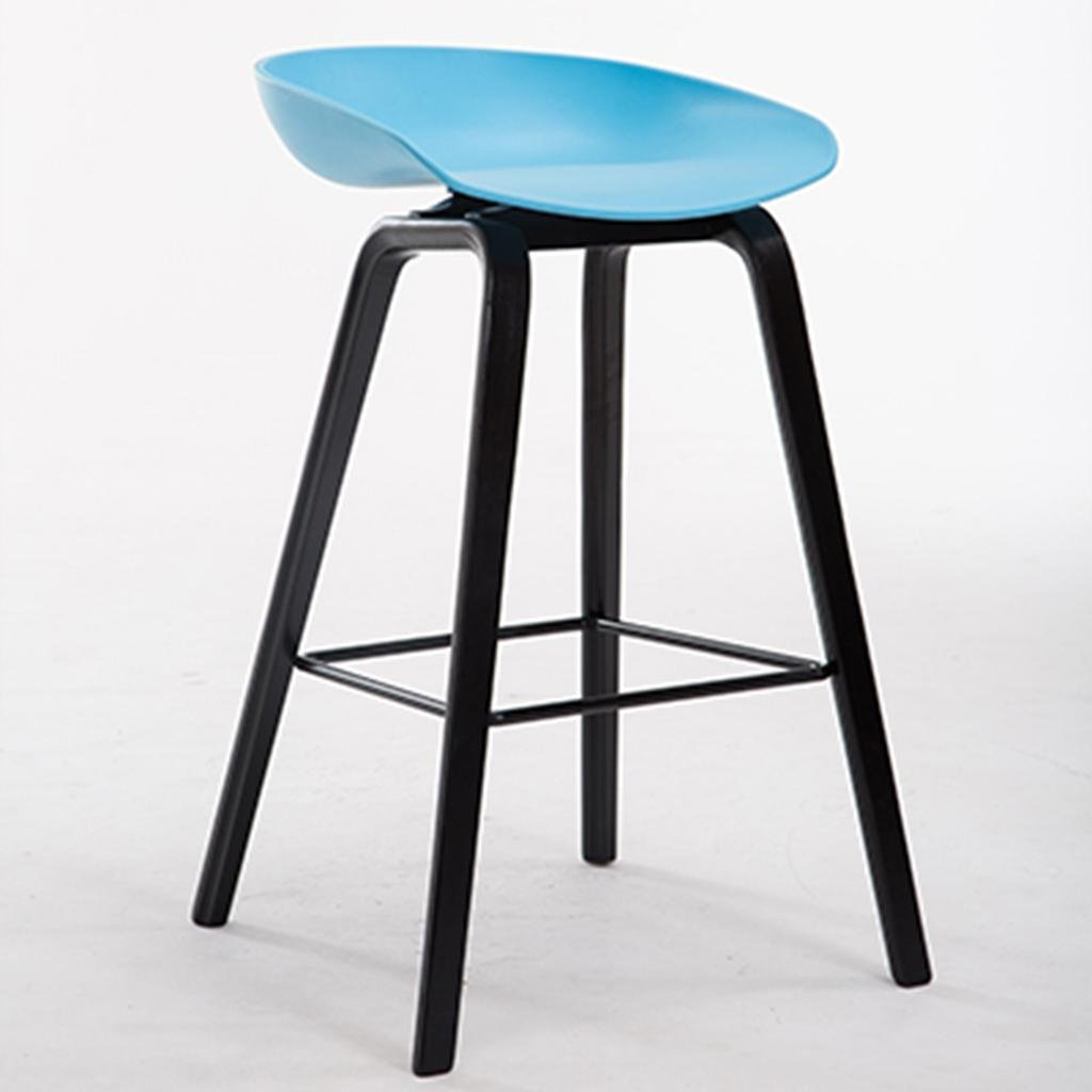 Creative木製の脚を持つモダンなキッチンスツールハイスツールバーのスツールABS席キッチンカウンターバー、75cm、Aシートのための高さ65cm / 75cm B07CH71XCW 1|75cm 75cm 1
