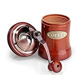 Manual Coffee Grinder, Wooden Coffee Mill with Ceramic Burr, Large Capacity, Cast Iron Hand Crank, Portable Adjustable Grinder By UnderReef