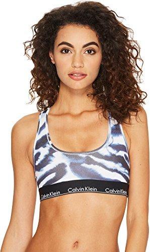 Calvin Klein Underwear Women's Modern Cotton Bralette Unlined Watercolor Animal/Black Small