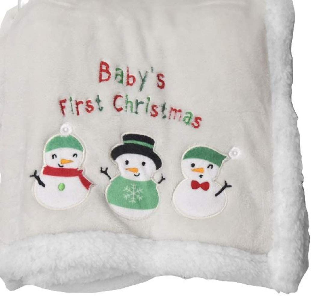 CHRISTMAS BABY SNOWMAN BLANKET NEW!