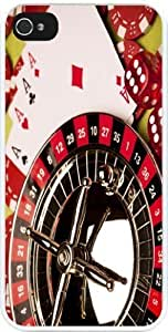 Rikki KnightTM Casino theme Design iPhone 4 & 4s Case Cover (White Rubber with bumper protection) for Apple iPhone 4 & 4s