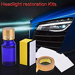 Headlight Restoration Kit, DIY Anti-Scratch Polishing for Car Headlight, Restore Headlights With Abrasive Rubbing Compound Eliminate Yellow Dull Or Foggy Restore Visibility and Clarity(10ml, 1PC)