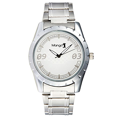 Mango People Silver Casual Men's Analog Watch -MP-HOB-014