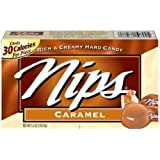 Nips Caramel Candy, 4-Ounce (Pack of 12)