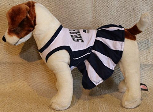 Nfl Cheerleaders Costumes (SEATTLE SEAHAWKS CHEERLEADER DOG DRESS OUTFIT ALL SIZES LICENSED NFL (Small))