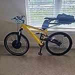SCHUCK-Kit-Telaio-Ruota-Anteriore-Bicicletta-elettrica-Bici-elettrica-da-2636V-500W-195-25con-Kit-di-conversione-Display-S800