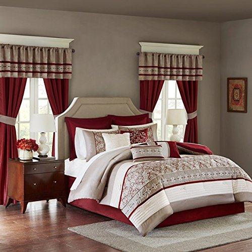 Madison Park MPE10-233 Essentials Jelena Room in a Bag King Red