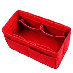 Different size pockets Hold everything and fits nicely with 12 pockets in the bottom of your tote bag. Easy to get in or out It is effortless to remove your stuff to a new handbag immediately from another. Thick felt holds its shape The organ...