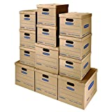 Bankers Box SmoothMove Classic Moving Boxes Kit, Tape-Free Assembly, Small/Med, 12 Pack (7716401)