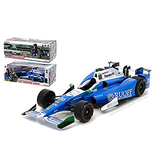 GREENLIGHT 1:18 VERIZON INDY CAR SERIES - 2017 INDIANAPOLIS 500 WINNER - #26 TAKUMA SATO - Winners Indianapolis 500