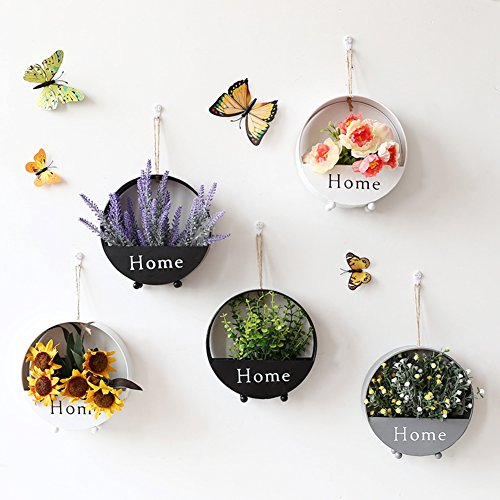 Creative wall decoration pendant hanging flower pots simulation restaurant background wall plant-W by sdvsdvs