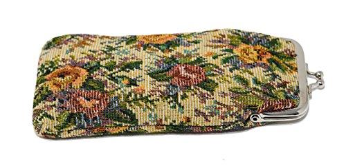 Tapestry Eyeglasses Holder, Snap Clasp Eyeglasses Case - by - Eyeglasses Vintage Versace