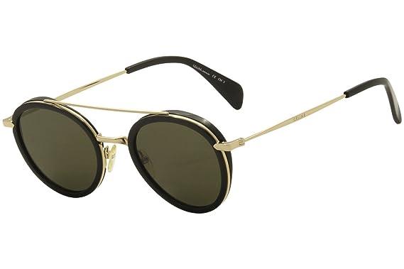 f2f24232447 Celine CL 41424S ANW Black Gold CL 41424S Round Sunglasses Lens ...