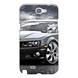 Shock-Absorbing Hard Phone Covers For Samsung Galaxy Note 2 (sST14789lZwa) Customized Vivid Fast Black Chevrolet Camaro Ss Skin