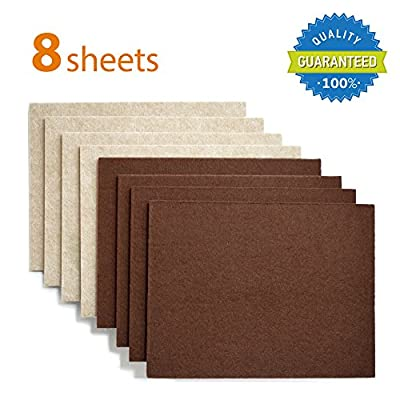 "X-PROTECTOR Premium 8 THICK 1/5"" HEAVY DUTY Felt Sheets 5 4/5"" x 7 4/5""! Cut Furniture Pads for Furniture Feet You Need – Best Felt Pads Wood Floor Protectors. Protect Your Hardwood Flooring!"