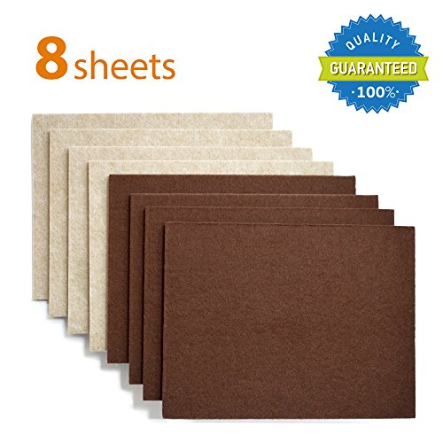 Protect Your Hardwood Flooring! Cheap X PROTECTOR Premium 8 THICK 1/5u201d  HEAVY DUTY Felt Sheets 5