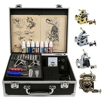 Amazon.com : super Value 4 Guns Professional Tattoo Machine Kit High ...