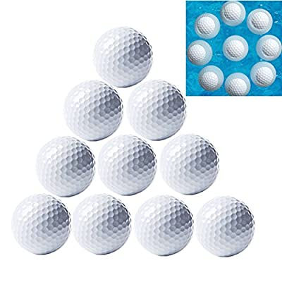 MarketBoss 10pcs Floating Golf Balls Floaters Golf Water Float Water Range for Water Golf Course Practice