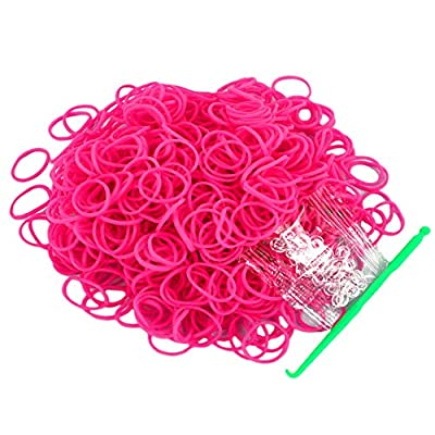 Salome Idea Rubber Bands -3000pcs Rubber Loom Bands Barcelet Making Kit,25pcs S-Clips,5-Hooks (Rose): Beauty