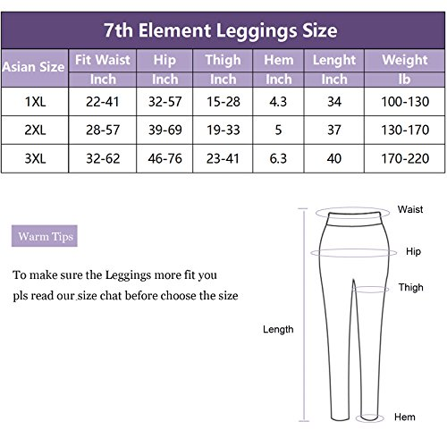 f7e27ba757666 7th Element Plus Size Faux Leather Leggings Lightweight High Waisted for Womens  Girls
