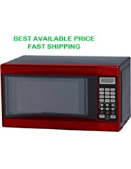 Microwave Oven 0.7 cu ft Digital 700W (Red)