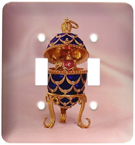 - 3dRose lsp_3148_2 Picturing Pinecone Faberge Egg Double Toggle Switch