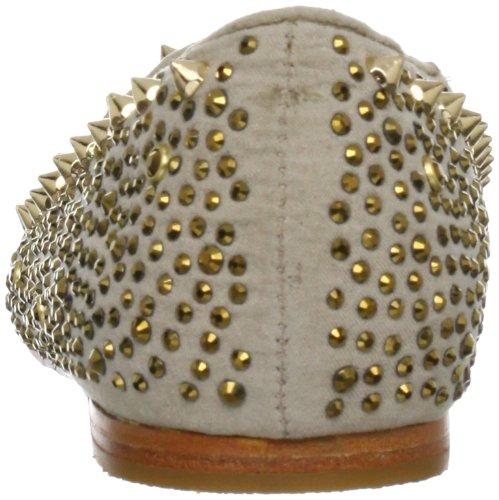 Steve Madden Graanite Damen Gold Stoff Wohnungen Schuhe Neu/Display EU 36,5