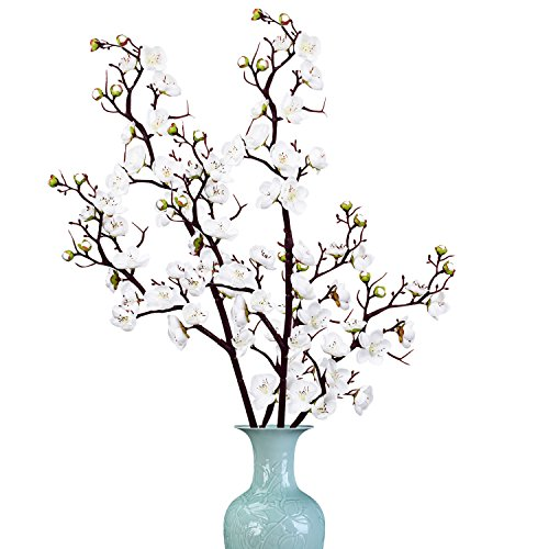 Plum Flower Branch (Sunm boutique 2 Pack Plum Blossom Artificial Flowers Simulation Flower Table Decoration Accessories Party Beach Theme Decorations)