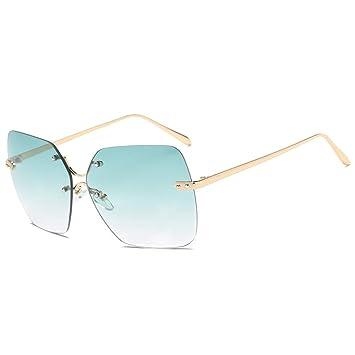 Gafas de Sol sin Montura con Montura Cuadrada y Lentes de ...